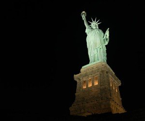 Musco Statue of Liberty - LEDs light US icons