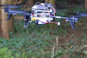 Zurich search drone - AI drone finds footpaths in the woods