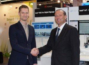 Markus Krieg, CEO marketing at Rutronik (right), Simon Wilyman, channel director, Intel EMEA