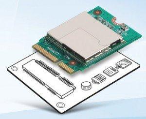 M2.COM on sensor motherboard