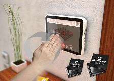 Microchip touch gesture display
