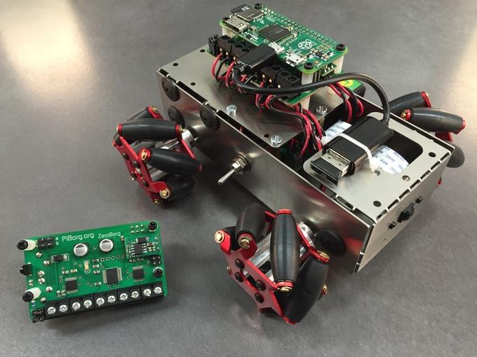 zeroborg motors around with raspberry pi zero. Black Bedroom Furniture Sets. Home Design Ideas