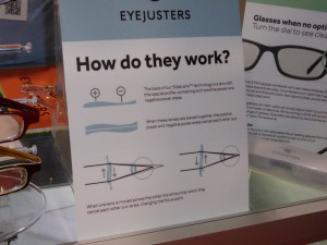 Eyejuster adjustable focus reading glasses