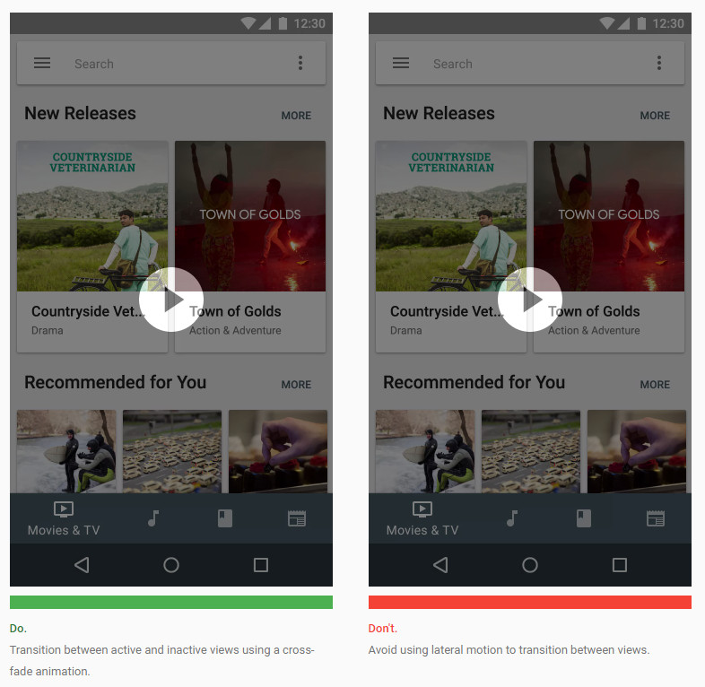 how to add app at bottom of android