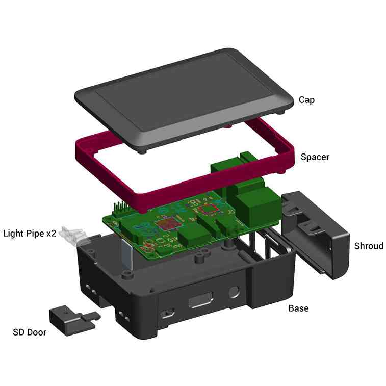Raspberry Pi 3 has extendable case for add-on boards
