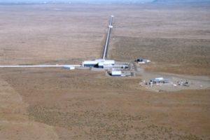 4km arms of LIGO Washington
