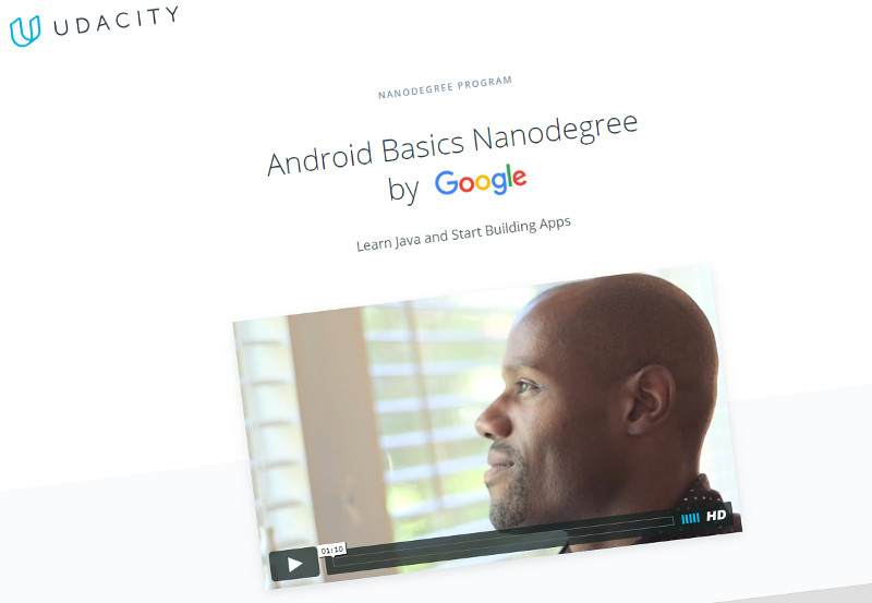 Google invites you to enroll in an Android Basics Nanodegree