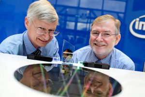 Managing Director of Intel Labs Mike Mayberry and Dr. Kieran Drain, CEO of Tyndall National Institute