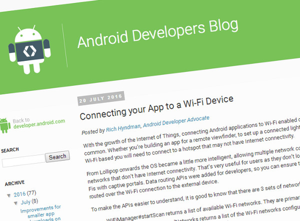 Managing Wi-Fi connections from within your app for IoT