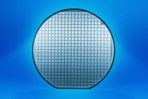 Blue silicon wafer