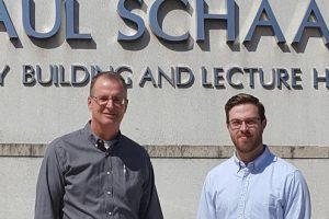 Wayne State Prof Charles Winter and Kyle Blakeney