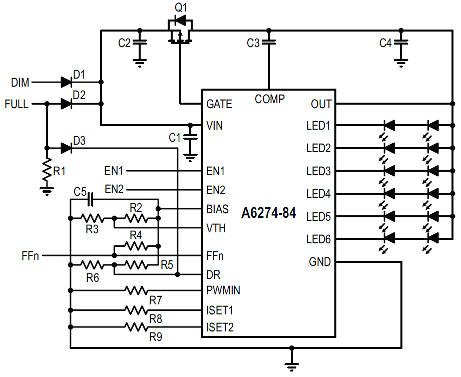 linear led driver for automotive lights