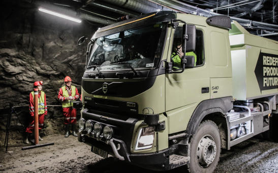 Volvo announces underground self-driving truck in Swedish mine