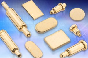Harwin pogo pins and contact pads