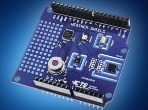 Mouser lines up weather sensors on Arduino shield