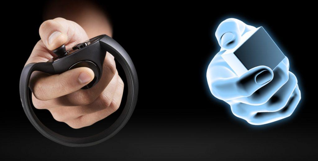 The Oculus Rift Touch controller