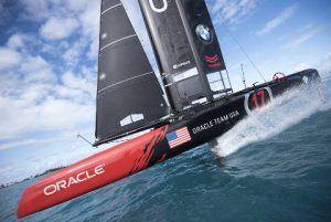 Oracle Team and Airbus at sea