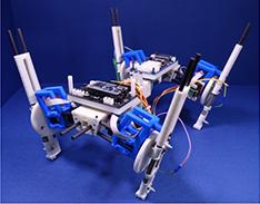 Four-leg robot spontaneously trots, canters, then gallops