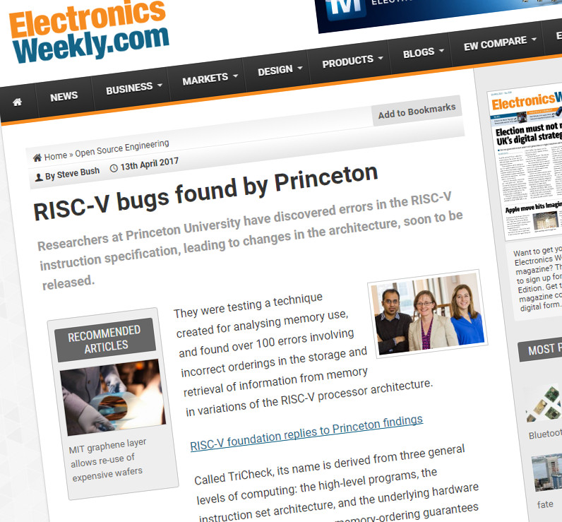 RISC-V Foundation replies on Princeton bugs