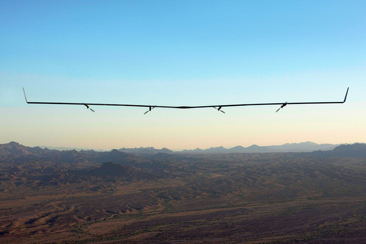 Facebook's Aquila drone in its second flight