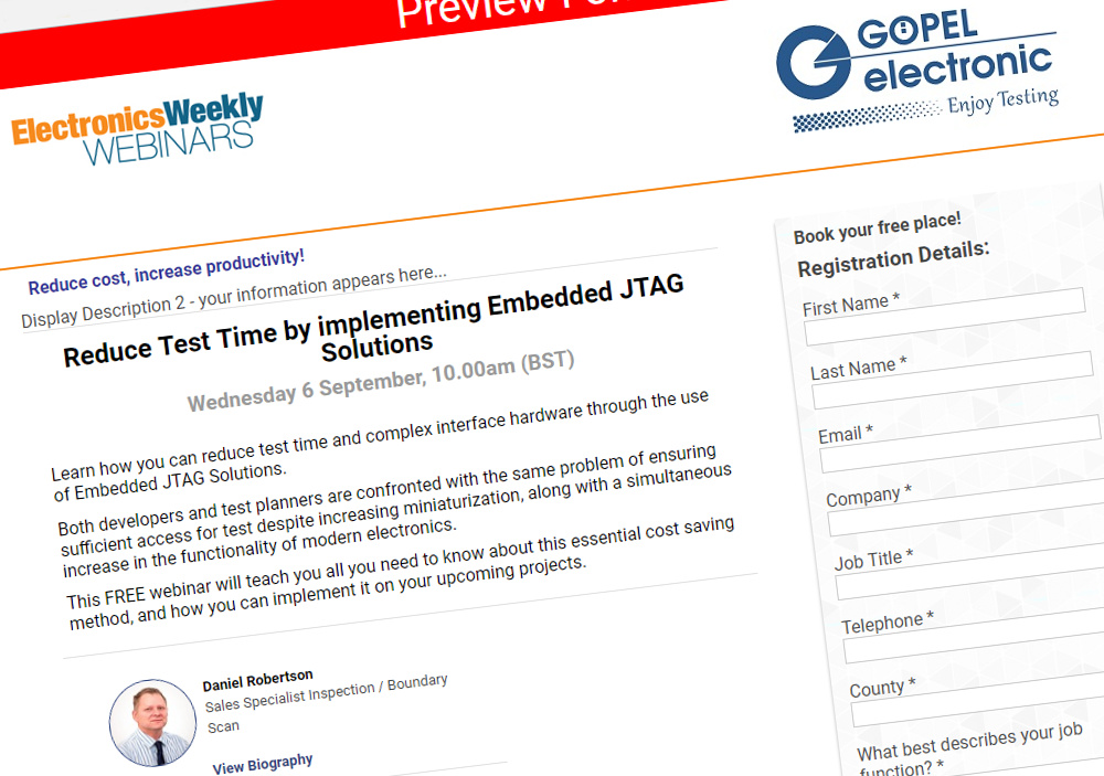 goepel webinar reduce time