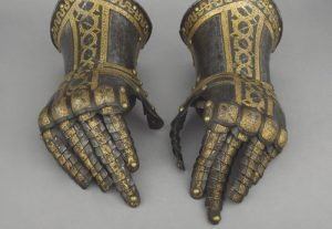 The gauntlets from a suit of armour. Image: Trustees of the Wallace Collection