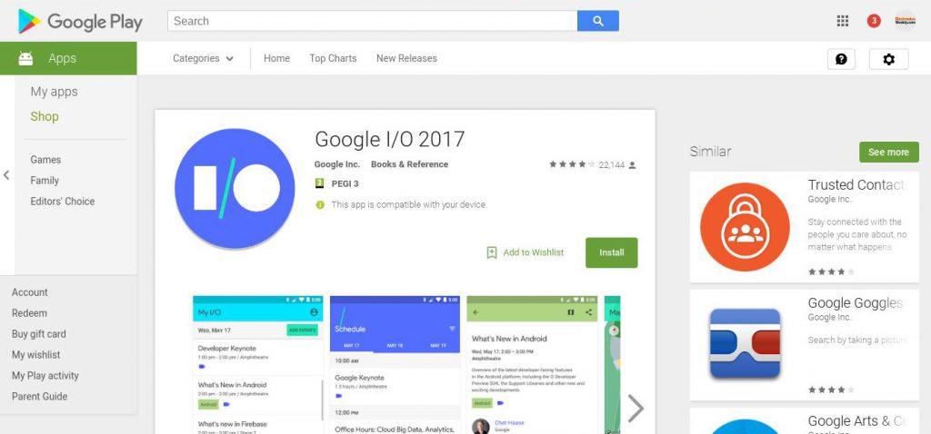 Google IO app 2017 2