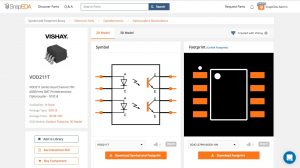 SnapEDA part models can be searched in PCB123 design tool
