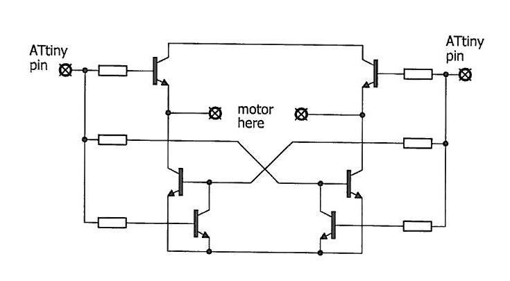 Updated: \'Safe\' all-npn reversing motor drive for Arduino