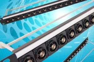 Cliff FT XLR connectors in 1U 19in rack panel