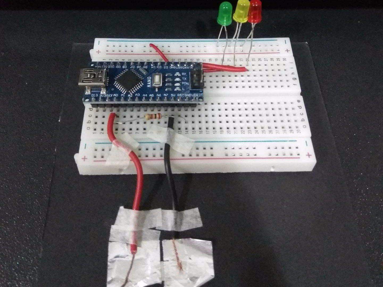 Building an Arduino lie detector test
