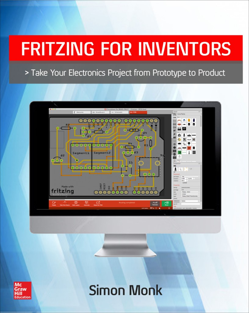 Gadget Book Fritzing For Inventors Breadboard Layout And Schematic Diagram