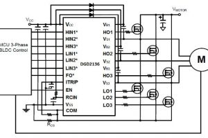 Diodes DGD2136 three phase driver