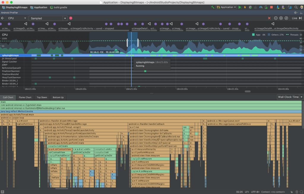 Android Studio 3 - CPU Profiler
