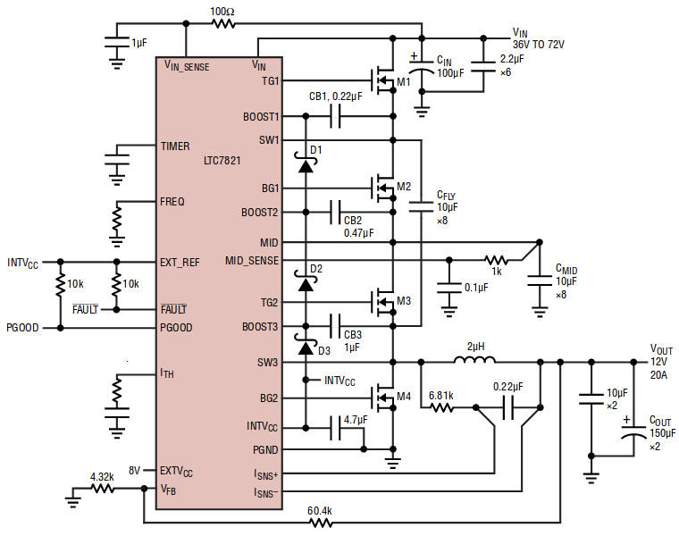 Hybrid Dc Dc Converter Stirs Switched Capacitor Into Buck Step Down