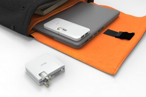 Laptop charger slims down and aims to be foldable