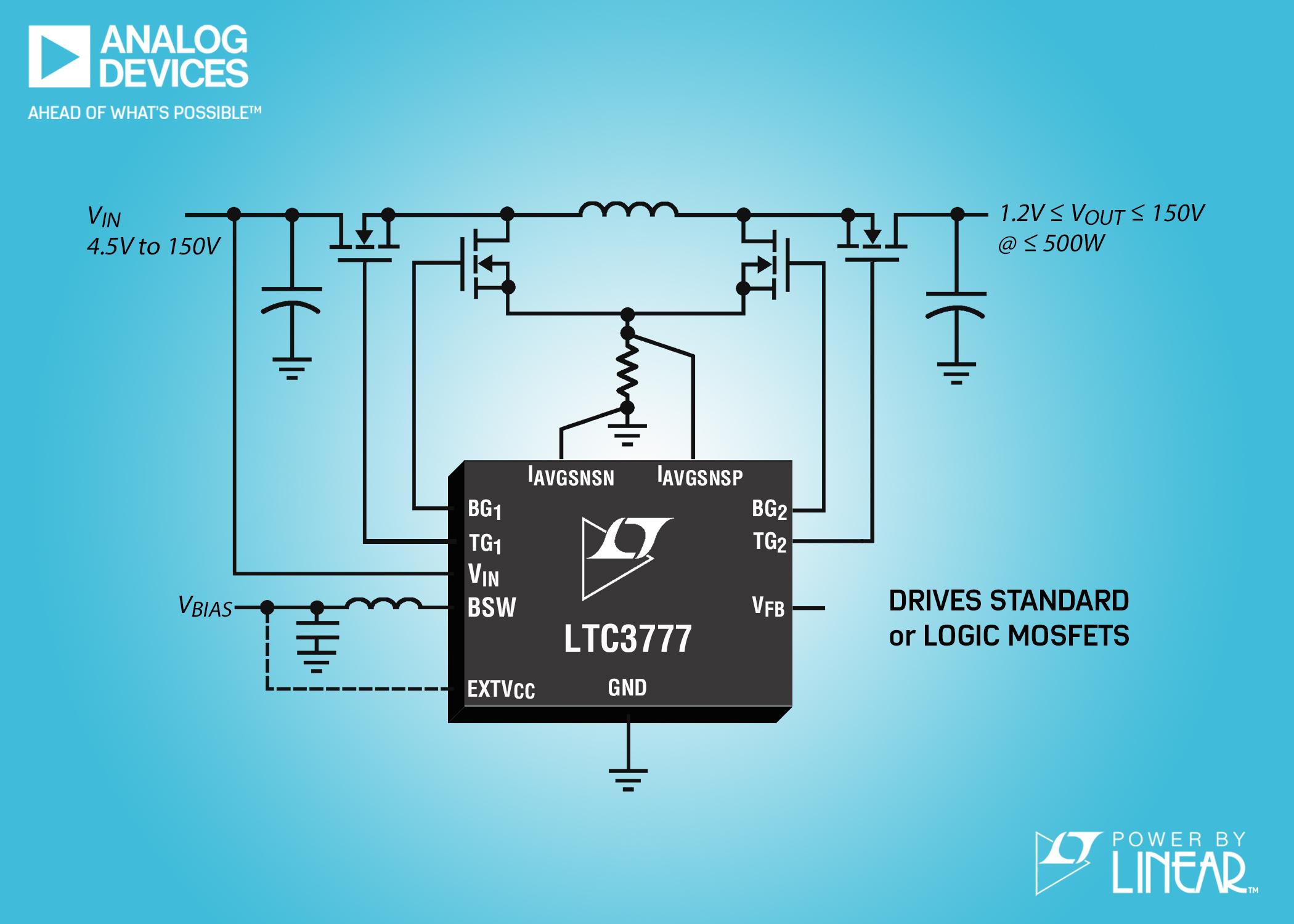 LTC 150VIN & VOUT Synchronous 4-Switch Buck-Boost Controller