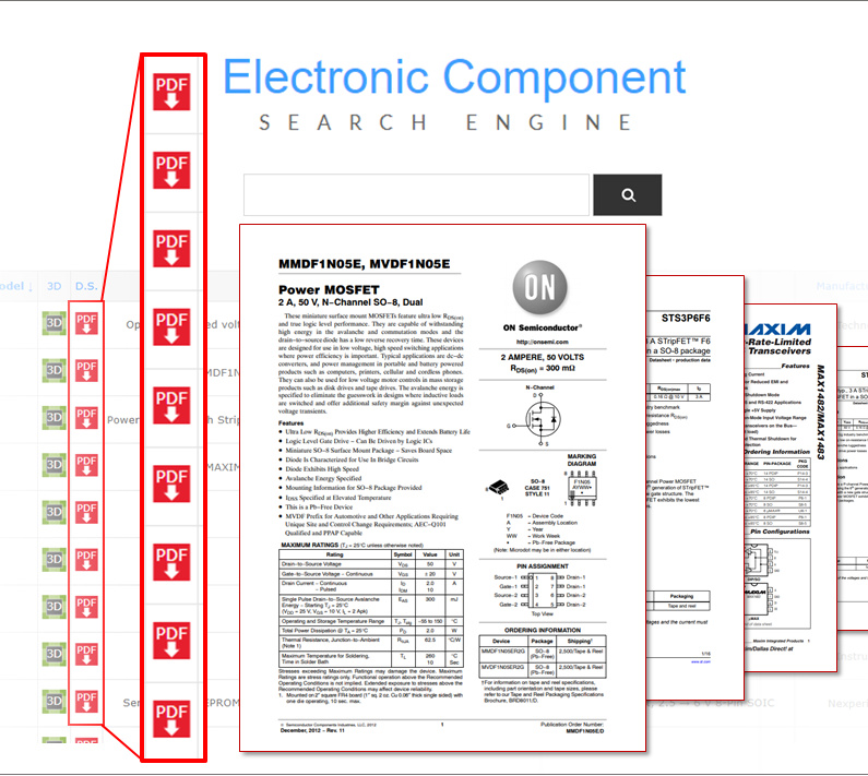 components datasheets view and download for free