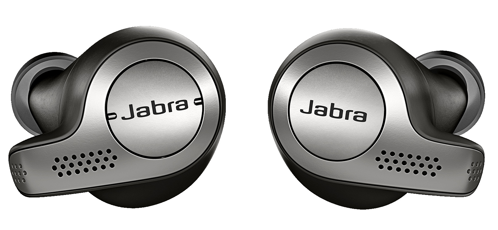 """9dc7dd37ad1 ... were demonstrating their latest products, which include the Jabra Elite  65 (pictured below), """"true wireless"""" earbuds (i.e. not wired together)  featuring ..."""