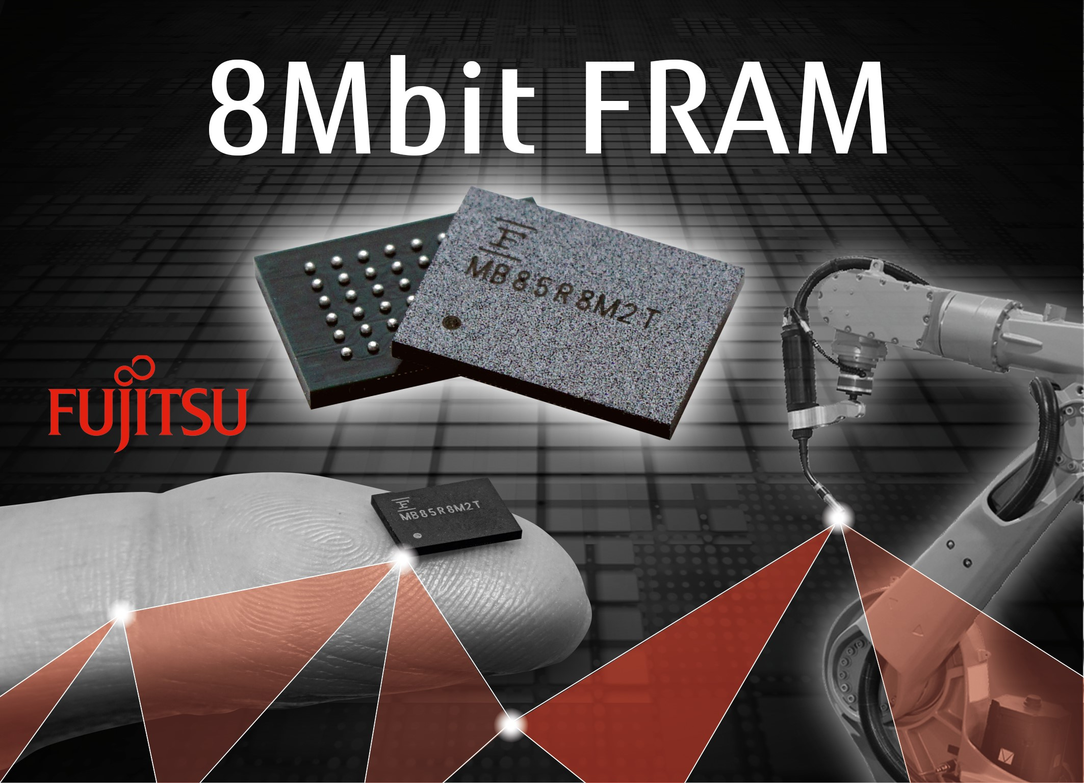 Fujitsu In Mass Production Of An 8mbit Fram