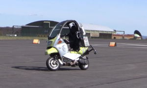 Driverless motorbike aids driverless car development