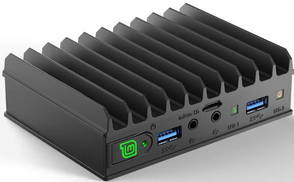 Fan-less quad-core computer dedicated to Linux Mint