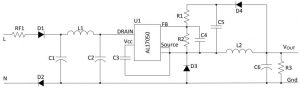 Diodes-AL17050-mains-ac-dc-coverter for IoT