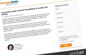 A webinar on the structural and functional testing of sensors