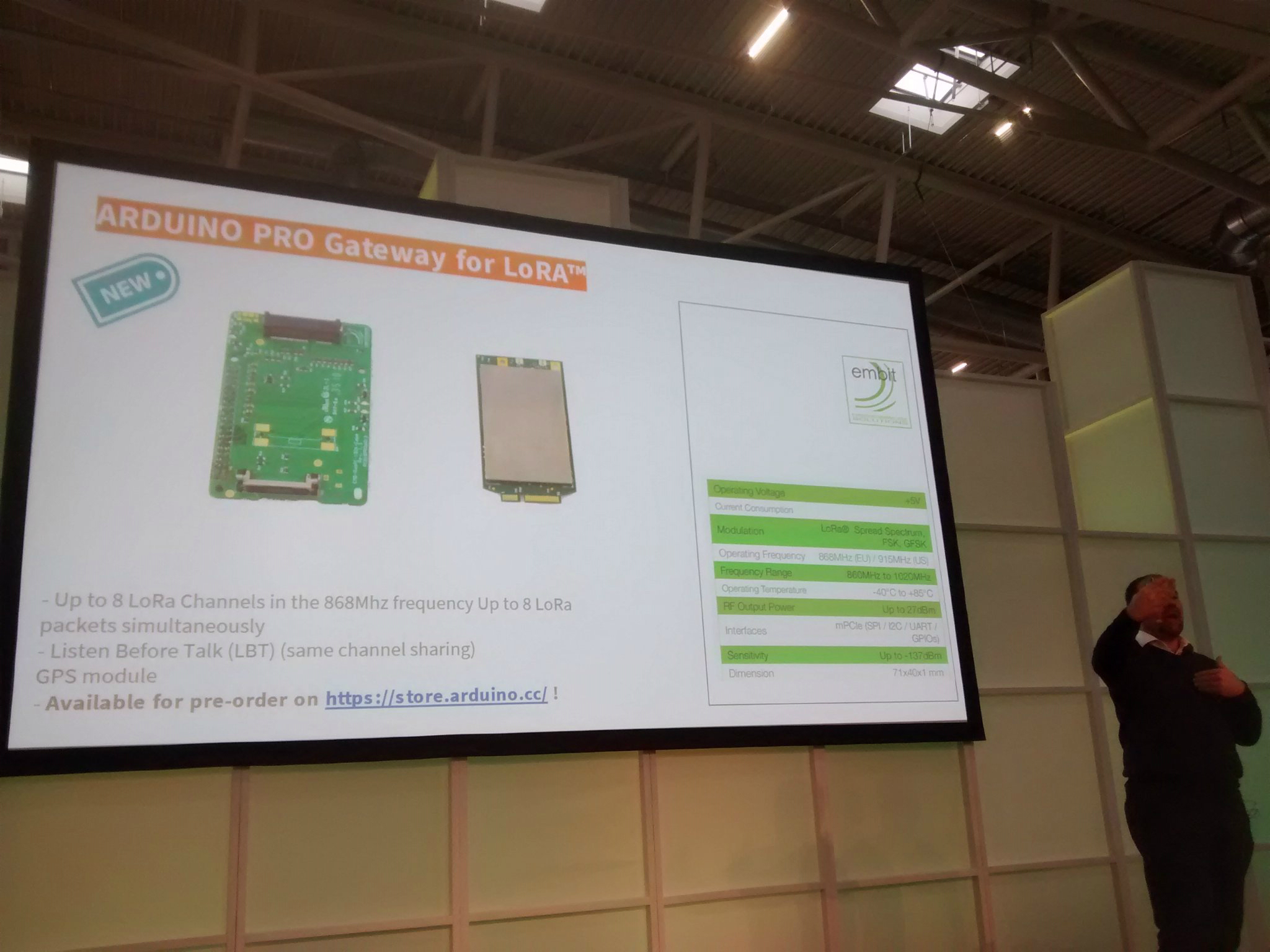 Electronica 2018: Raspberry Pi hosts Arduino PRO Gateway for LoRa