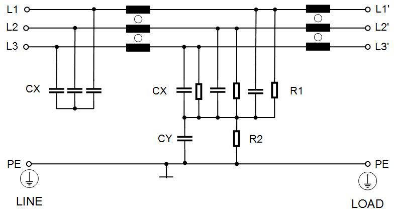 three phase emc filters for motor drives
