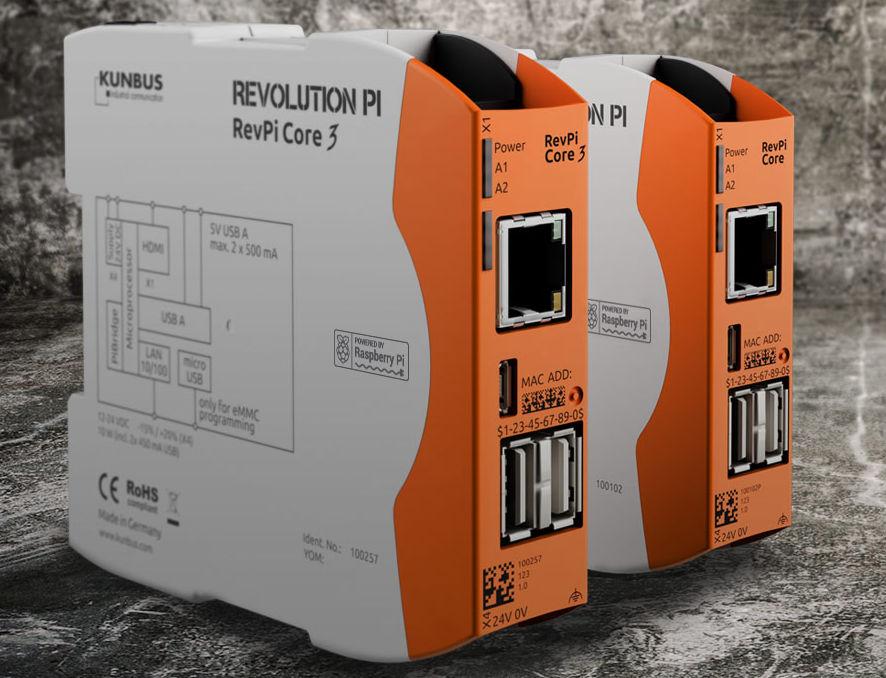 Industrial Raspberry Pi 3 mounts on DIN rail