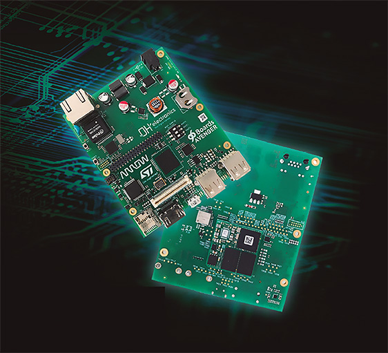 96Boards supports STM's Cortex-A7 + Cortex-M4 STM32MP1