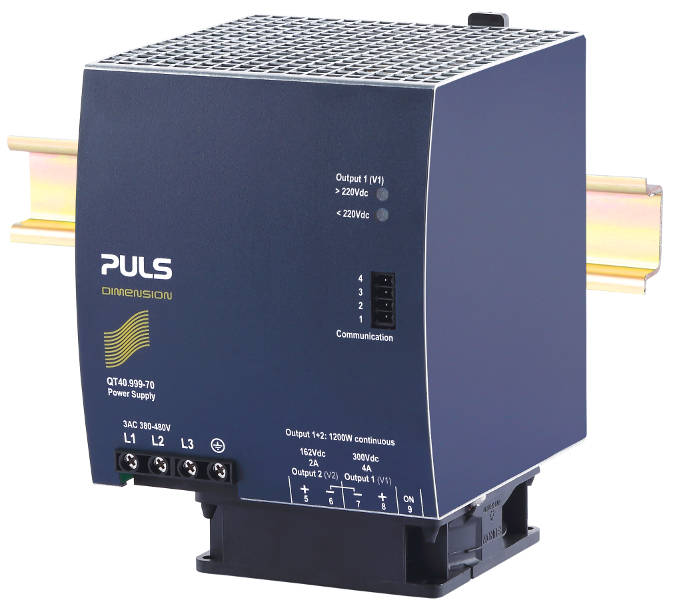 DIN rail PSU with IO-Link for Industry 4.0