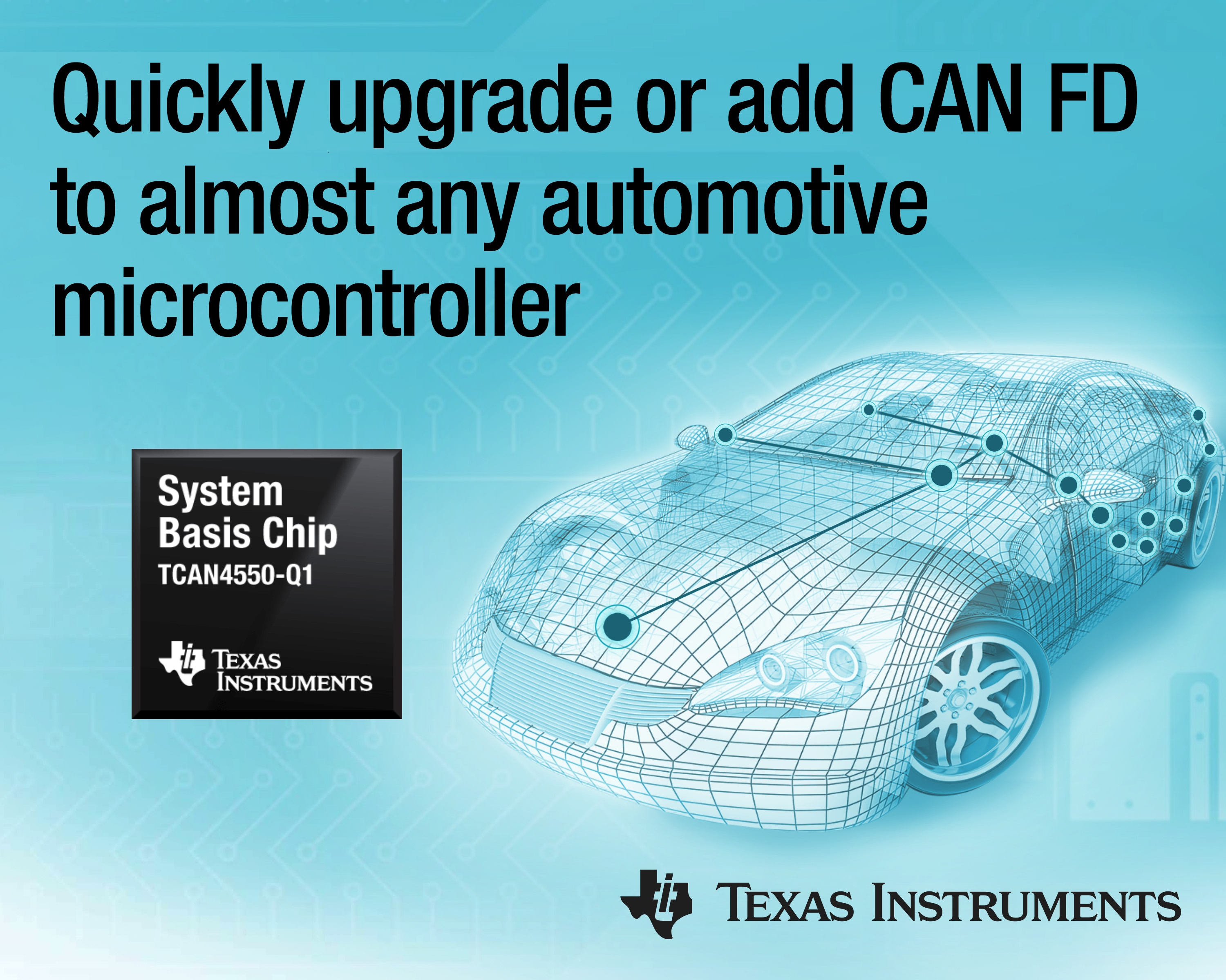 TI Chip integrates transceiver and controller for CAN-FD